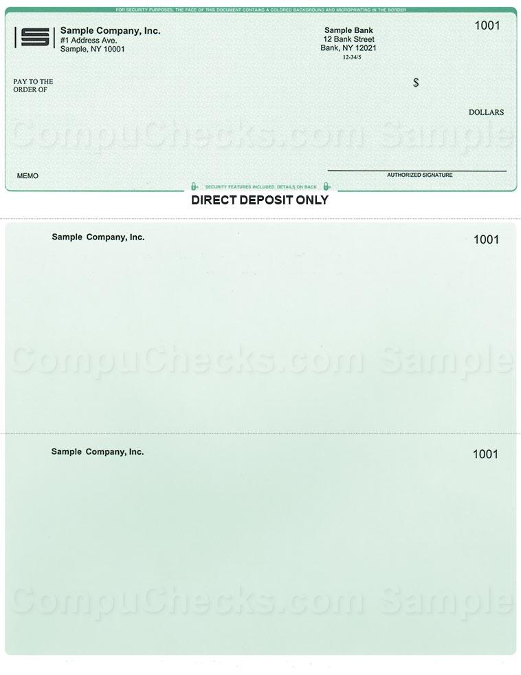 Direct Deposit Checks for QuickBooks Users - Compuchecks.com - Store: