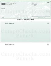 Direct Deposit Form - Green Marble - Standard