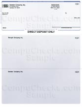 Direct Deposit Form - Blue Pinstripe - Executive
