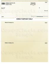 Direct Deposit Form - Gold Pinstripe - Executive