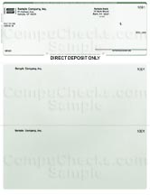 Direct Deposit Form - Green Pinstripe - Executive